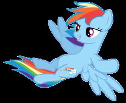 Size: 2265x1846 | Tagged: safe, artist:sacronius, rainbow dash, pegasus, pony, female, simple background, solo, transparent background, vector