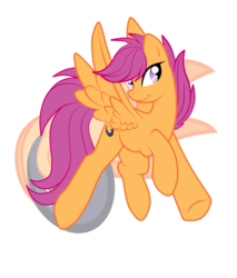 Size: 2300x2700 | Tagged: artist:rainbowscreen, older, safe, scootaloo, simple background, transparent background, vector