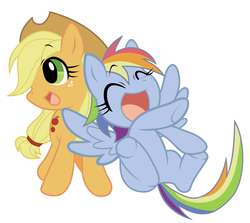 Size: 2800x2500 | Tagged: applejack, artist:akira bano, rainbow dash, safe, simple background