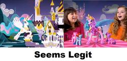 Size: 955x459 | Tagged: safe, princess celestia, human, comparison, irl, photo, pinklestia, seems legit, toy