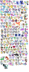 Size: 1340x3300 | Tagged: safe, artist:kturtle, allie way, aloe, amethyst star, angel bunny, apple bloom, applejack, berry punch, berryshine, big macintosh, blossomforth, bon bon, braeburn, bulk biceps, caramel, carrot cake, carrot top, cerberus (character), chancellor puddinghead, cheerilee, cherry jubilee, cletus, cloudchaser, cloudy quartz, clover the clever, commander hurricane, crackle, cranky doodle donkey, cup cake, daisy, daring do, derpy hooves, diamond tiara, discord, dj pon-3, doctor whooves, donut joe, fancypants, featherweight, fido, filthy rich, flam, fleur-de-lis, flim, flitter, flower wishes, fluttershy, garble, gilda, golden harvest, granny smith, gummy, gustave le grande, hayseed turnip truck, hoity toity, hugh jelly, igneous rock pie, iron will, jet set, junebug, lickety split, lily, lily valley, limestone pie, lotus blossom, lyra heartstrings, marble pie, mare do well, matilda, mayor mare, minuette, mulia mild, night light, nurse redheart, octavia melody, opalescence, owlowiscious, philomena, photo finish, pinkie pie, pipsqueak, pokey pierce, pound cake, prince blueblood, princess cadance, princess celestia, princess luna, princess platinum, private pansy, pumpkin cake, queen chrysalis, rainbow dash, rarity, roseluck, rover, rumble, sapphire shores, scootaloo, screw loose, screwball, shady daze, shining armor, silver spoon, smart cookie, smarty pants, snails, snips, soarin', spike, spitfire, spot, steven magnet, surf, sweetie belle, sweetie drops, tank, thunderlane, time turner, trixie, truffle shuffle, turf, twilight sparkle, twilight velvet, twist, upper crust, vinyl scratch, winona, zecora, cerberus, changeling, changeling queen, diamond dog, donkey, dragon, earth pony, goat, griffon, minotaur, mule, pony, zebra, season 1, season 2, atlas, discorded, everypony, female, flower trio, future twilight, how to draw, male, multiple heads, pinkamena diane pie, reference sheet, royal guard, scooter, stallion, three heads, waiter, wall of tags