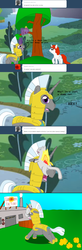 Size: 1000x3057 | Tagged: artist:hakar-kerarmor, ask four inept guardponies, oc, oc:bastion, royal guard, safe, this will end in explosions
