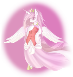 Size: 1134x1192 | Tagged: safe, artist:v-invidia, princess celestia, anthro, cute, female, simple background, solo, transparent background