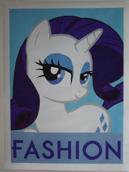 Size: 2112x2816 | Tagged: safe, artist:iceroadlion, rarity, fashion, high res, painting, poster, that pony sure does love fashion
