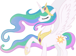 Size: 8178x6042 | Tagged: dead source, safe, artist:bronyfang, artist:tim015, princess celestia, pony, .ai available, absurd resolution, female, mare, simple background, solo, transparent background, vector