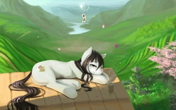 Size: 3840x2400 | Tagged: artist:fruitbloodmilkshake, japan, nation ponies, oc, oc only, safe, scenery, solo, tea