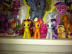 Size: 2592x1936 | Tagged: safe, apple bloom, applejack, derpy hooves, scootaloo, sweetie belle, twilight sparkle, pegasus, pony, collection, female, figure, mare
