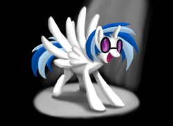 Size: 1920x1408 | Tagged: safe, artist:werdkcub, dj pon-3, vinyl scratch, alicorn, pony, alicornified, race swap, solo, vinylcorn