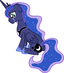 Size: 4760x5470 | Tagged: safe, artist:90sigma, princess luna, absurd resolution, crying, female, sad, simple background, sitting, solo, transparent background, vector