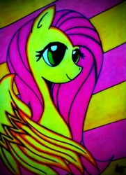 Size: 1072x1484 | Tagged: artist needed, safe, fluttershy, solo, traditional art