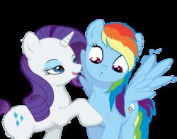 Size: 5000x3920 | Tagged: safe, artist:ak71, artist:bri-sta, rainbow dash, rarity, absurd resolution, female, lesbian, raridash, shipping, wingboner