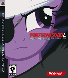 Size: 865x1000 | Tagged: safe, artist:jennieoo, twilight sparkle, future twilight, game cover, konami, metal gear, metal gear solid, metal gear solid 4, parody, playstation, playstation 3, show accurate, video game