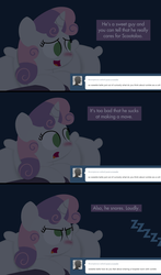 Size: 1280x2180 | Tagged: artist:dtcx97, ask, ask post-crusade, hospital, post-crusade, safe, sick, snoring, sweetie belle, tumblr