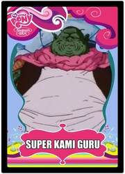 Size: 609x845 | Tagged: dragon ball, dragon ball z, dragonball z abridged, guru (dragonball z), safe, super kami guru, trading card
