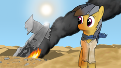 Size: 1920x1080 | Tagged: safe, artist:famelessface, daring do, nathan drake, parody, uncharted