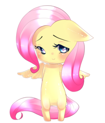 Size: 3000x3500 | Tagged: safe, artist:salamiasami, fluttershy, anthro, semi-anthro, ambiguous facial structure, chibi, high res