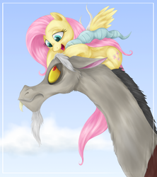 Size: 1745x1968 | Tagged: artist:mn27, discord, discoshy, female, fluttershy, male, safe, shipping, straight