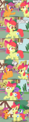 Size: 1024x4253 | Tagged: safe, artist:aleximusprime, apple bloom, scootaloo, spike, apple bloom is not amused, comic, comic sans, cutie mark, fake cutie mark, gem, unamused