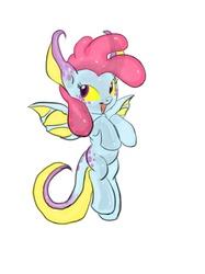 Size: 599x800 | Tagged: safe, artist:carnifex, oc, oc only, oc:helium, goo pony, object pony, original species, element pony, older, ponified