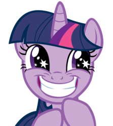 Size: 3575x4000 | Tagged: safe, artist:atomicgreymon, twilight sparkle, pony, unicorn, female, grin, mare, rapeface, reaction image, rubbing hooves, simple background, smiling, solo, squee, starry eyes, transparent background, unicorn twilight, vector, wingding eyes