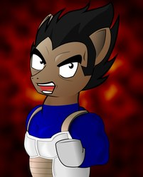 Size: 1200x1493 | Tagged: artist:necromanser rus, dragon ball, dragon ball z, ponified, safe, vegeta