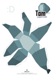 Size: 2479x3509 | Tagged: safe, artist:kna, tom, high res, papercraft, template
