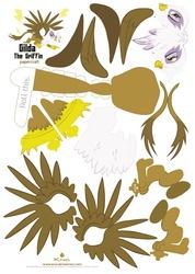 Size: 2491x3507 | Tagged: safe, artist:kna, gilda, griffon, high res, papercraft, template