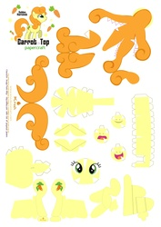 Size: 2479x3499 | Tagged: safe, artist:kna, carrot top, golden harvest, high res, papercraft, template