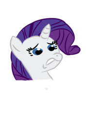 Size: 745x1053 | Tagged: safe, artist:flyinggrenade1, rarity, disgusted, scared