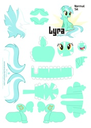 Size: 2483x3507 | Tagged: safe, artist:kna, lyra heartstrings, high res, papercraft, template
