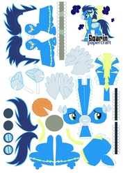 Size: 2479x3499 | Tagged: safe, artist:kna, soarin', high res, papercraft, template