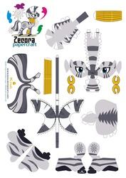 Size: 2479x3499 | Tagged: safe, artist:kna, zecora, zebra, high res, papercraft, template
