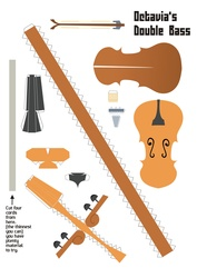 Size: 2479x3499 | Tagged: safe, artist:kna, octavia melody, cello, high res, musical instrument, papercraft, template