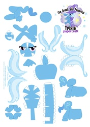 Size: 2479x3499 | Tagged: safe, artist:kna, trixie, high res, papercraft, template