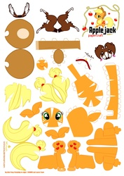 Size: 2480x3507 | Tagged: safe, artist:kna, applejack, winona, high res, papercraft, template