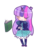 Size: 627x895 | Tagged: safe, artist:crownofspadez, twilight sparkle, human, :>, book, coffee cup, cup, cute, eyes closed, horned humanization, humanized, simple background, solo, transparent background, twiabetes