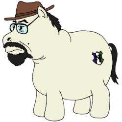 Size: 950x954 | Tagged: safe, glasses, harold covington, ponified