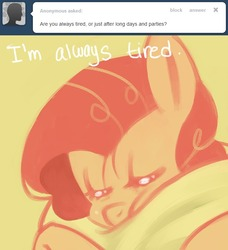 Size: 638x700 | Tagged: dead source, safe, artist:dhui, pinkie pie, ask tired pie, tumblr