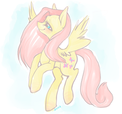 Size: 570x533 | Tagged: safe, artist:cthulhugenocidist, artist:dogrot, fluttershy, pegasus, pony, abstract background, female, solo