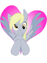 Size: 800x1067 | Tagged: safe, artist:zowieblaze, derpy hooves, pegasus, pony, female, heart, mare, simple background, solo, transparent background