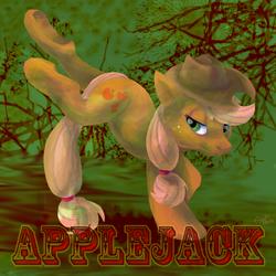 Size: 900x900 | Tagged: safe, artist:zowieblaze, applejack, bucking, solo