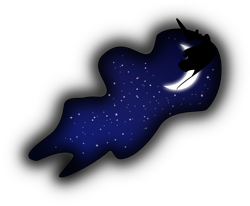 Size: 4327x3668 | Tagged: safe, artist:up1ter, princess luna, crescent moon, female, simple background, solo, transparent background, vector