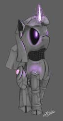 Size: 666x1280 | Tagged: safe, artist:synad, twilight sparkle, robot