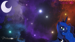 Size: 1920x1080 | Tagged: artist:primogenitor34, crescent moon, princess luna, safe, solo, space, wallpaper