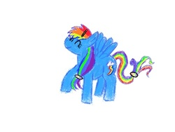 Size: 500x375 | Tagged: artist:drawsomeponies, hairclip, rainbow dash, safe