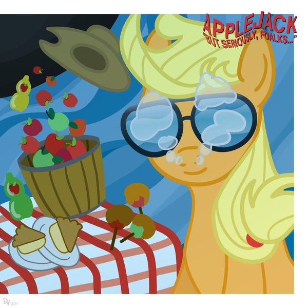 87737 - album cover, apple, applejack, artist:kefkafloyd, joe walsh