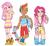Size: 1005x919   Tagged: safe, artist:verticalart, fluttershy, pinkie pie, rainbow dash, clothes, dress, humanized