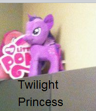Size: 194x224 | Tagged: funrise, hilarious in hindsight, image macro, irl, my little pony logo, official, photo, plushie, safe, twilight sparkle