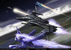 Size: 1600x1137 | Tagged: safe, artist:foxi-5, derpy hooves, princess luna, rainbow dash, alicorn, pegasus, pony, aircraft, female, jet, mare, missile, plane