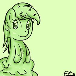 Size: 750x750   Tagged: safe, artist:freefraq, oc, oc only, goo pony, original species, monster, slime